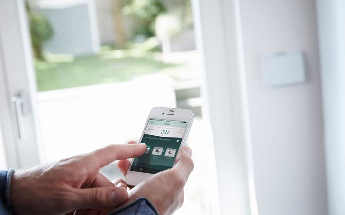 Produkty Green iQ sa dajú jednoducho ovládať pomocou smartfónu